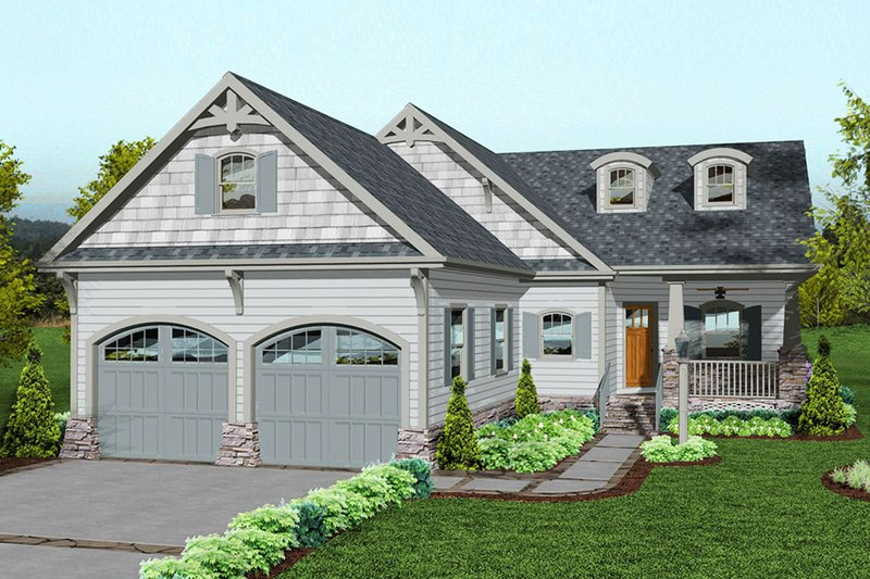 Dream House Plan - Craftsman Exterior - Front Elevation Plan #56-709