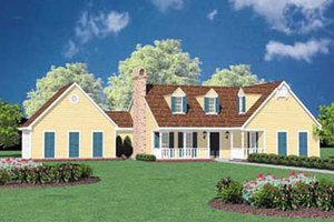 Architectural House Design - Country Exterior - Front Elevation Plan #36-110
