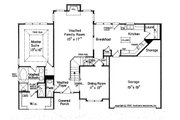 Traditional Style House Plan - 4 Beds 2.5 Baths 1874 Sq/Ft Plan #927-7 Floor Plan - Main Floor Plan