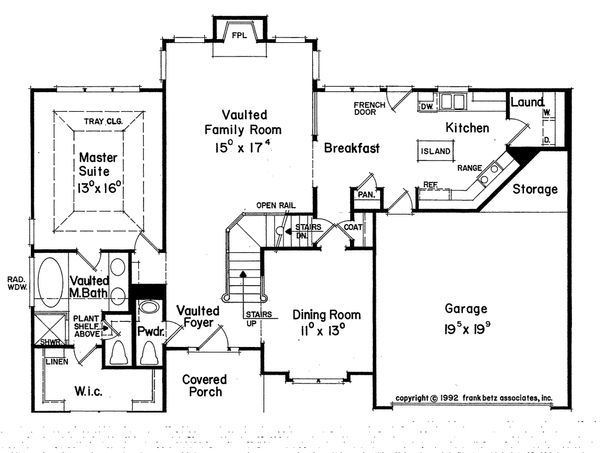 Traditional Floor Plan - Main Floor Plan Plan #927-7