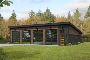 House Plan Design - Modern Exterior - Front Elevation Plan #932-358