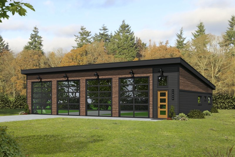 Architectural House Design - Modern Exterior - Front Elevation Plan #932-358