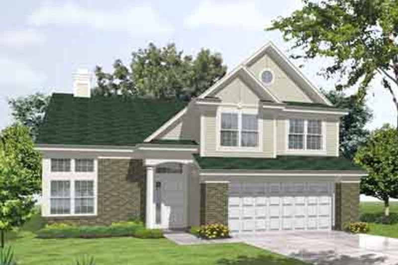 House Plan - 4 Beds 2.5 Baths 2596 Sq/Ft Plan #50-242 Exterior - Front Elevation