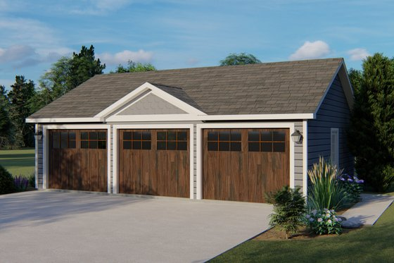 Country Exterior - Front Elevation Plan #1064-53