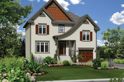 European Style House Plan - 2 Beds 1 Baths 1419 Sq/Ft Plan #25-4563 Exterior - Front Elevation