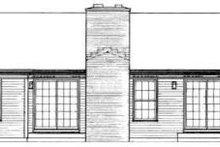 House Blueprint - Ranch Exterior - Rear Elevation Plan #72-446