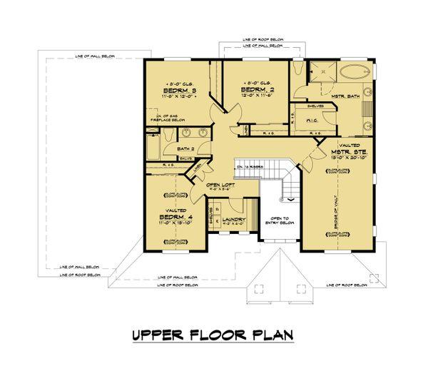 Home Plan - Modern Floor Plan - Upper Floor Plan #1066-129