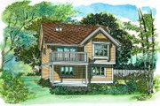 Country Style House Plan - 1 Beds 1 Baths 773 Sq/Ft Plan #47-516 Exterior - Front Elevation