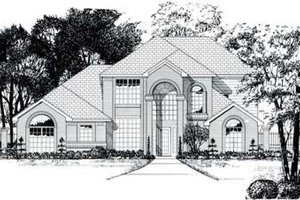 House Plan Design - Traditional Exterior - Front Elevation Plan #62-112