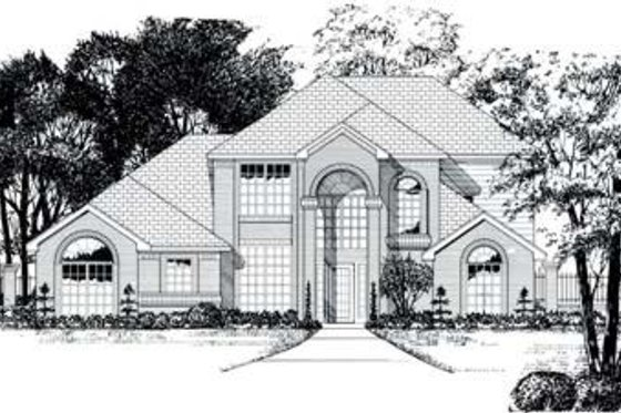 Traditional Exterior - Front Elevation Plan #62-112