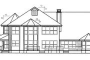 Country Style House Plan - 4 Beds 5 Baths 3501 Sq/Ft Plan #60-240 Exterior - Rear Elevation
