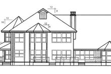 Country Exterior - Rear Elevation Plan #60-240