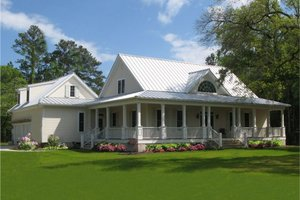 Dream House Plan - Farmhouse Exterior - Front Elevation Plan #137-252