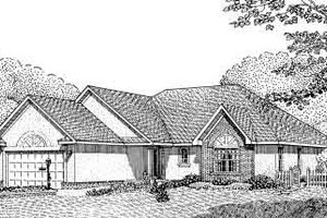 European Exterior - Front Elevation Plan #11-105