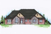 European Style House Plan - 6 Beds 4 Baths 2602 Sq/Ft Plan #5-363 Exterior - Front Elevation