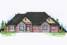 Home Plan - European Exterior - Front Elevation Plan #5-363