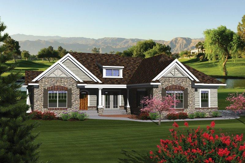 Ranch Exterior - Front Elevation Plan #70-1079 - Houseplans.com