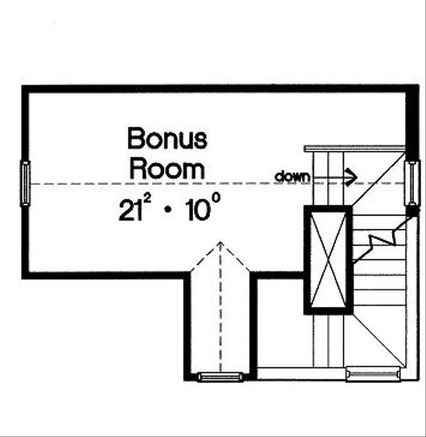 Cottage Floor Plan - Other Floor Plan Plan #417-101