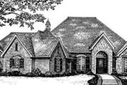 European Style House Plan - 3 Beds 2.5 Baths 2602 Sq/Ft Plan #310-265 Exterior - Front Elevation