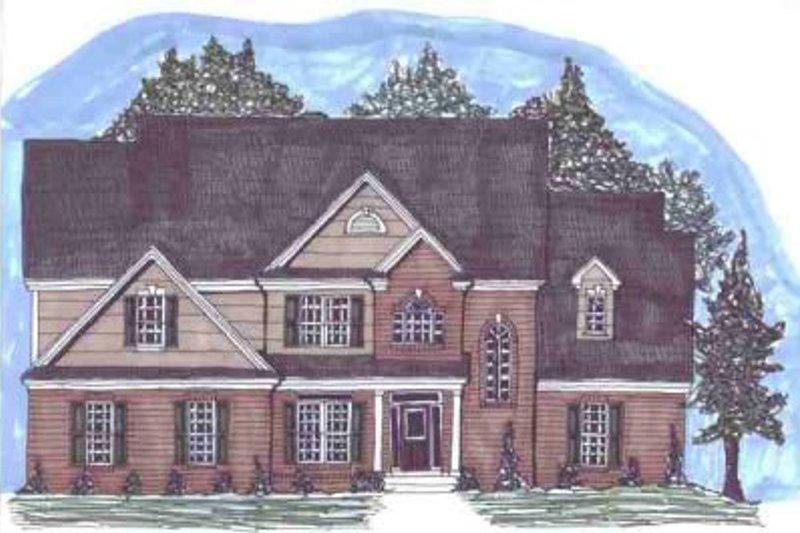 European Style House Plan - 4 Beds 3 Baths 2809 Sq/Ft Plan #69-145