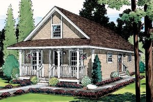 Country Exterior - Front Elevation Plan #312-437