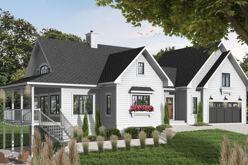 Home Plan - Traditional Exterior - Front Elevation Plan #23-422