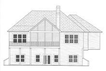Dream House Plan - Craftsman Exterior - Rear Elevation Plan #437-114