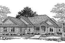 Traditional Exterior - Front Elevation Plan #70-206