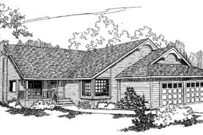 Traditional Exterior - Front Elevation Plan #60-219