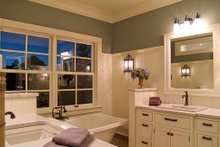 European style home with beautiful master bathroom