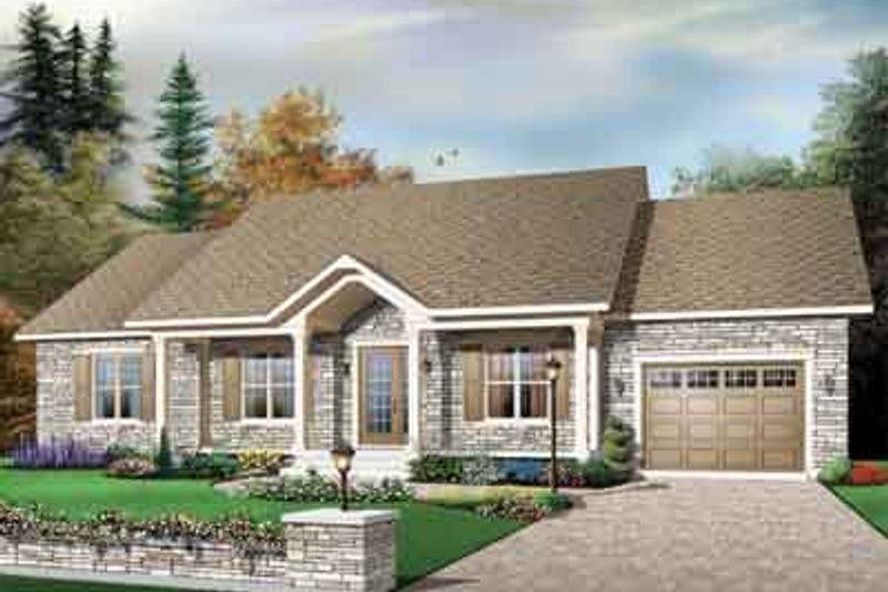 Cottage Exterior - Front Elevation Plan #23-651