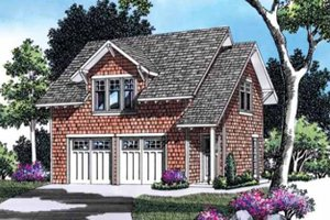 Architectural House Design - Craftsman Exterior - Front Elevation Plan #48-155
