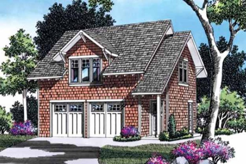 Craftsman Exterior - Front Elevation Plan #48-155