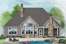 Cottage Exterior - Rear Elevation Plan #929-1098