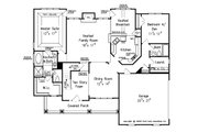 Craftsman Style House Plan - 4 Beds 3 Baths 2338 Sq/Ft Plan #927-3 Floor Plan - Main Floor