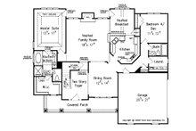 Craftsman Floor Plan - Main Floor Plan Plan #927-3