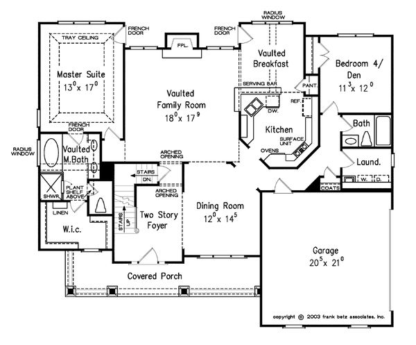 Craftsman Floor Plan - Main Floor Plan Plan #927-3