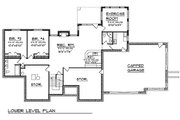 Traditional Style House Plan - 4 Beds 4.5 Baths 3892 Sq/Ft Plan #70-620 Floor Plan - Lower Floor Plan
