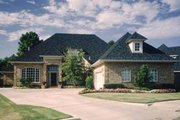 European Style House Plan - 3 Beds 3.5 Baths 3164 Sq/Ft Plan #52-124 Exterior - Front Elevation