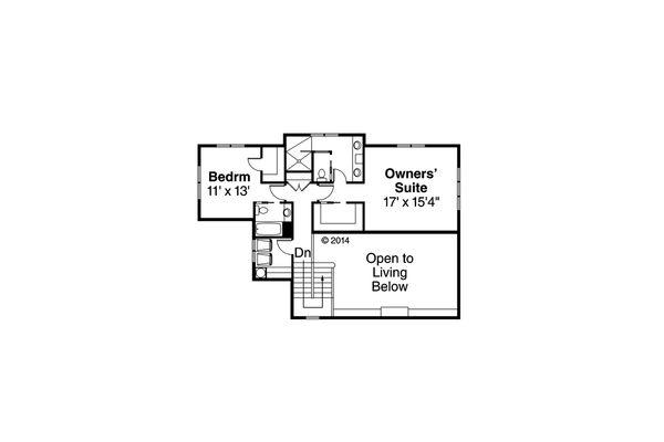 Traditional Floor Plan - Upper Floor Plan Plan #124-977