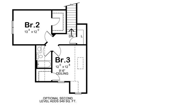 House Plan Design - Optional Bonus Level/Bedrooms