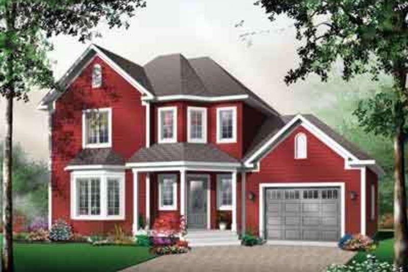 Architectural House Design - European Exterior - Front Elevation Plan #23-484
