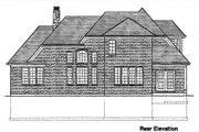Traditional Style House Plan - 3 Beds 2.5 Baths 2077 Sq/Ft Plan #46-132 Exterior - Rear Elevation