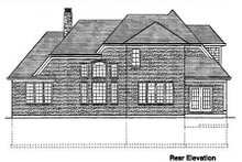 Traditional Exterior - Rear Elevation Plan #46-132