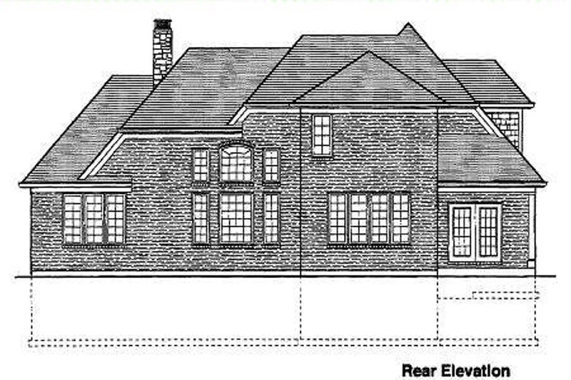 Traditional Exterior - Rear Elevation Plan #46-132 - Houseplans.com