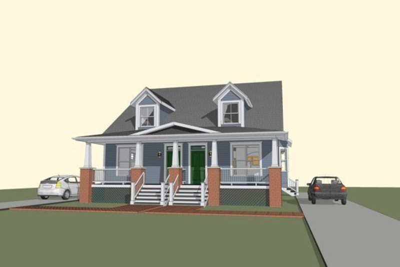 Traditional Style House Plan - 3 Beds 2 Baths 2676 Sq/Ft Plan #79-245 Exterior - Front Elevation