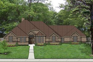 European Exterior - Front Elevation Plan #84-522