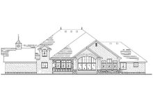 House Plan Design - European Exterior - Rear Elevation Plan #5-424