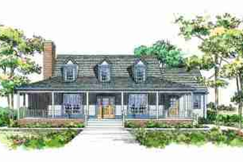 Country Exterior - Front Elevation Plan #72-320