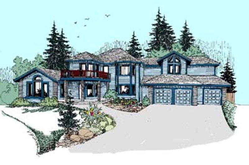 Exterior - Front Elevation Plan #60-515 - Houseplans.com